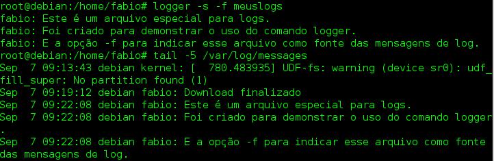 Como usar o comando logger no Linux