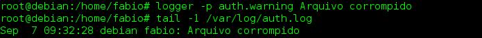Criar arquivos de log no Linux com o comando logger