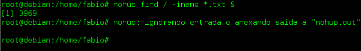Comando nohup no Linux