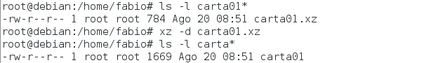 Comando xz no Linux - comprimir arquivos