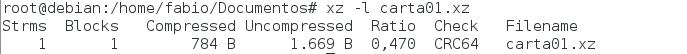 como usar o utilitário xz no Linux