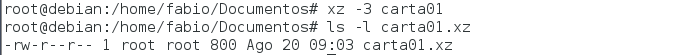 comprimir arquivos com xz no Linux