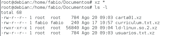Como zipar arquivos no Linux com o utilitário xz