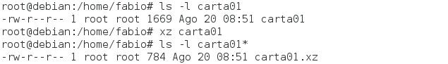 Comando xz no Linux