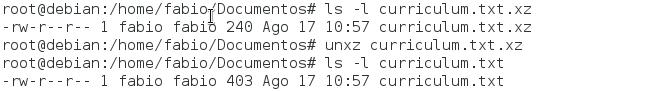 Como descomprimir arquivos no Linux com comando unxz