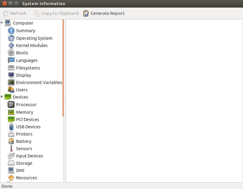 Ferramenta hardinfo no Linux