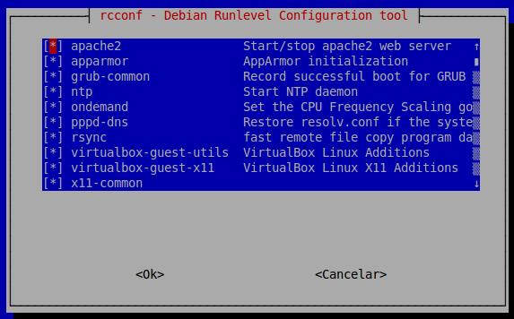 Pacote rcconf no Linux - 01