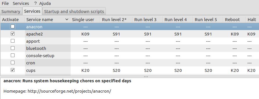 Scripts de startup e shutdown no linux debian
