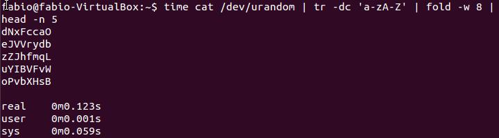 Números aleatórios com urandom no Linux