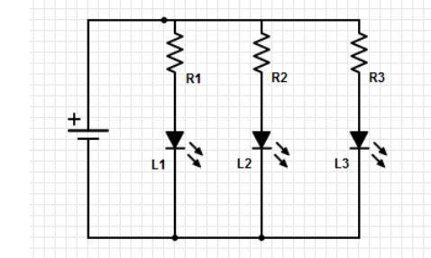 Associação em Paralelo de LEDs