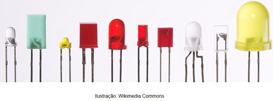 LEDs de tamanhos variados