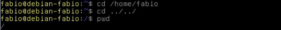 Mudar de diretório no Linux com o comando cd