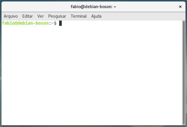 Terminal de comandos do Debian Linux 9