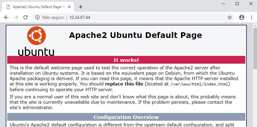 Encaminhamento de porta de servidor web apache com IPFire Linux