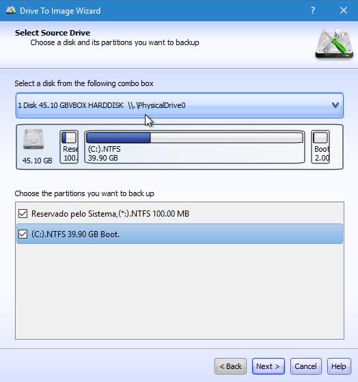 Criar imagem de disco com Lazesoft Image & Clone