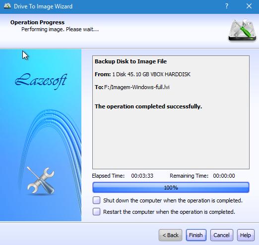 clonar disco com lazesoft