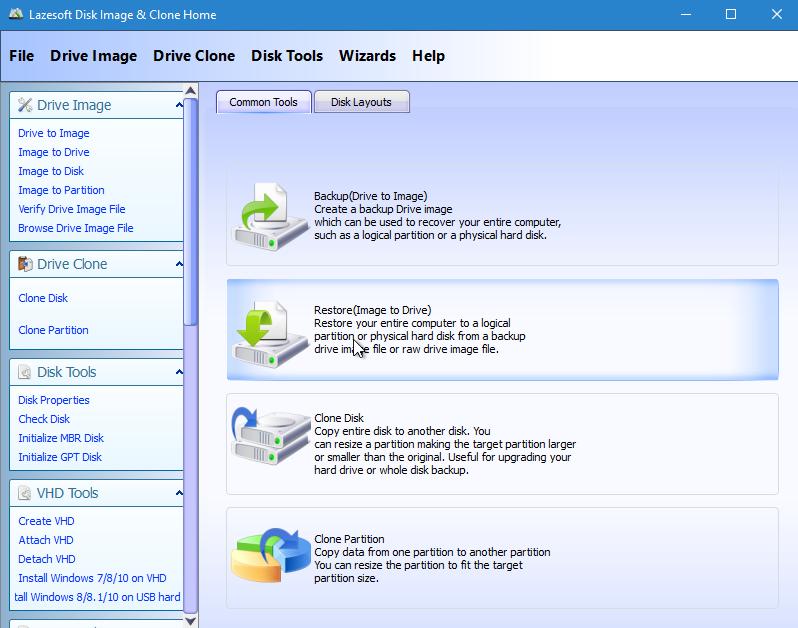 Restaurar imagem de disco com Lazesoft Disk Image & Clone
