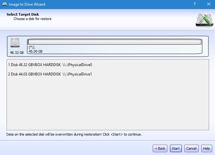 Restaurar imagem de disco com o software lazesoft