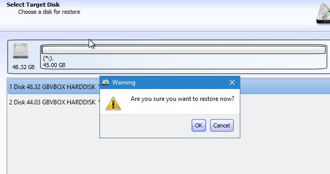 Lazesoft Disk Image & Clone Restaurar imagem de disco