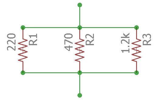 Circuito de associação em paralelo de resistores