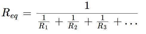 Fórmula da associação em paralelo de resistores