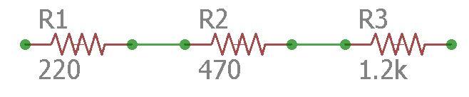 Circuito da associação em série de resistores
