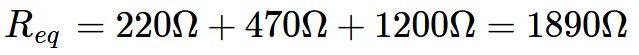 Exemplo de associação em série de resistores