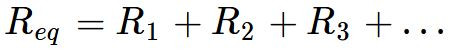 Fórmula da associação em série de resistores
