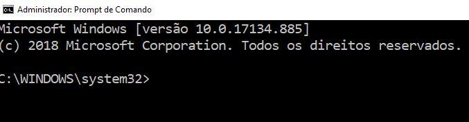Abrir prompt de comando do Windows 10 como administrador