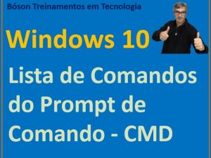 Prompt de comando do Windows 10 - lista de comandos