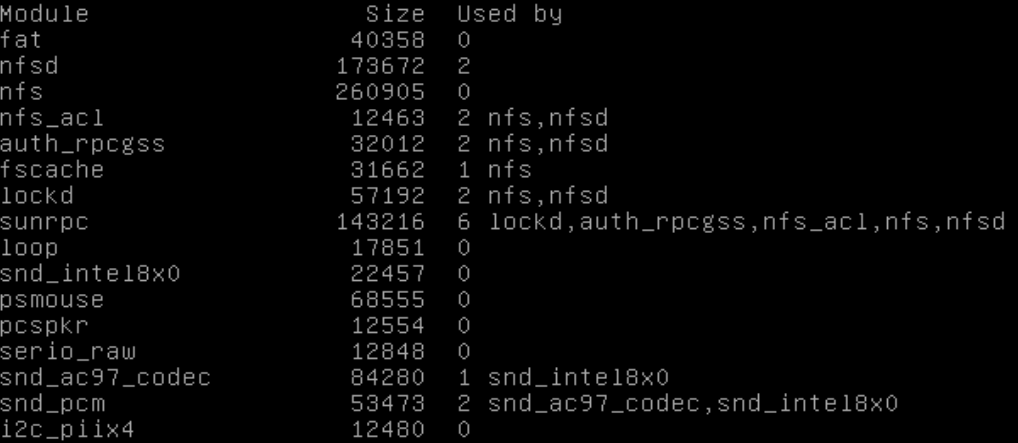 Verificar módulos no Linux com lsmod