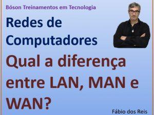 Diferença entre LAN, MAN e WAN em redes
