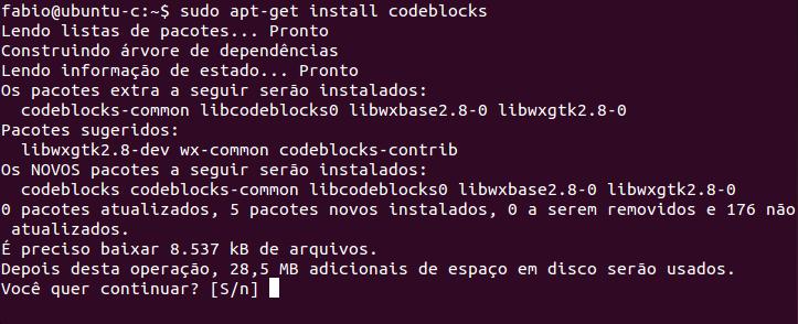 Instalar Code::Blocks no Ubuntu Linux