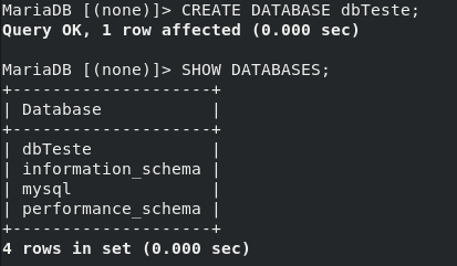 Criar um banco de dados com MariaDB no Linux CentOS 8