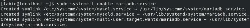 Habilitar serviço do MariaDB no CentOS Linux