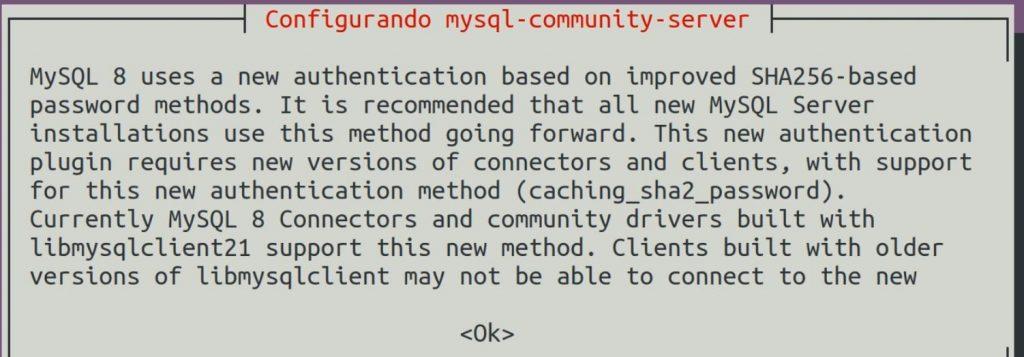 MySQL autenticação SHA-256
