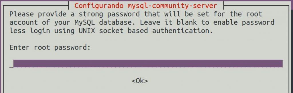 Configurar senha de root no MySQL Server
