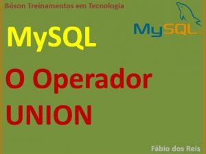 o operador union em mysql