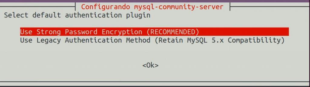 Plugin de autenticação para MySQL Server