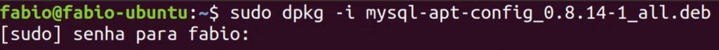 instalar mysql com dpkg no ubuntu linux