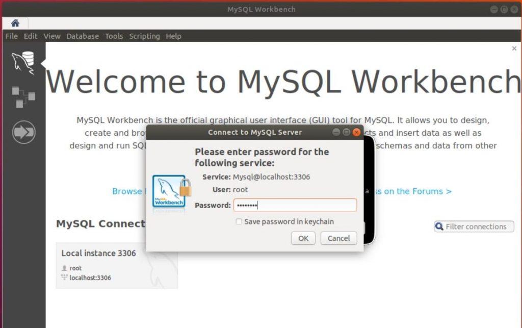 Testar o MySQL Workbench no Ubuntu Linux