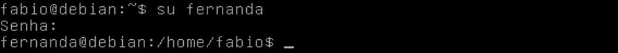 Comando su no Linux terminal