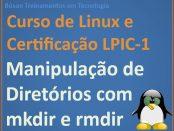 Criar e excluir pastas no Linux
