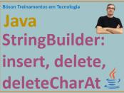 Métodos para inserção e exclusão na classe StringBuilder em Java