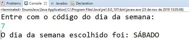 Testar enum em Java (enumeração)