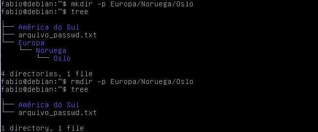 Remover diretórios no Linux com o comando rmdir