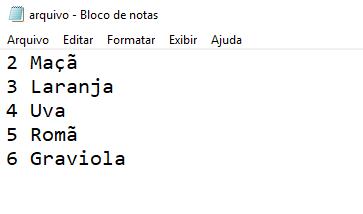 Arquivo de texto criado com Java