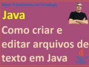 criar e editar arquivos de texto em Java
