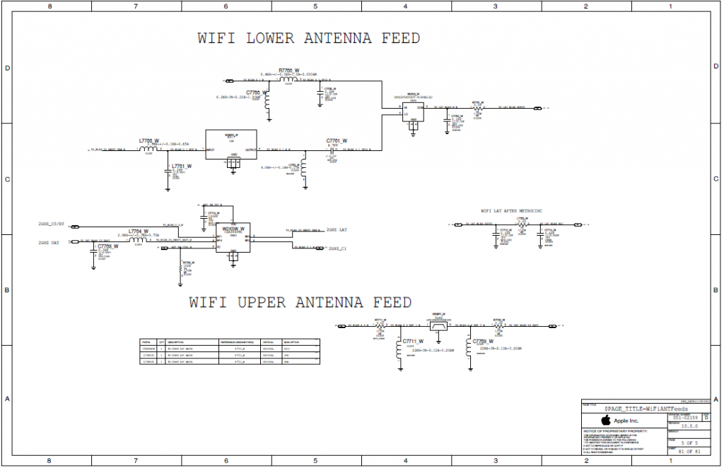 esquema eletrico do sistema de wifi do smartphone apple iphone 8