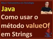 Como usar o método valueOf em Strings em Java